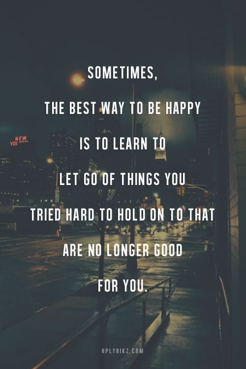 happiness - let go