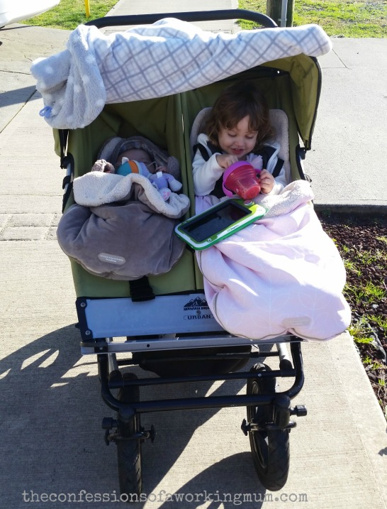 double stroller sunny day