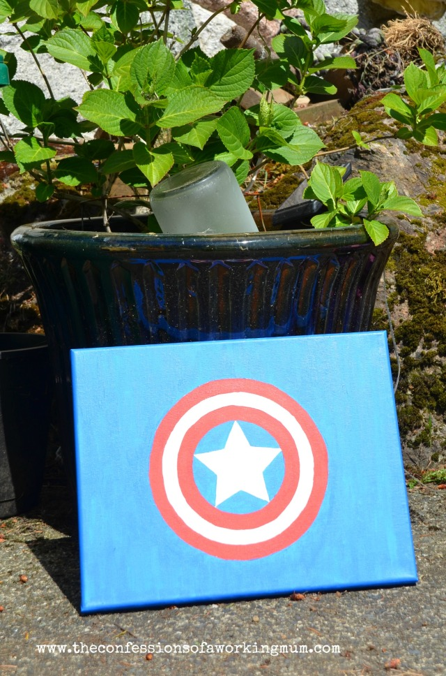 diy superhero canvas may 10