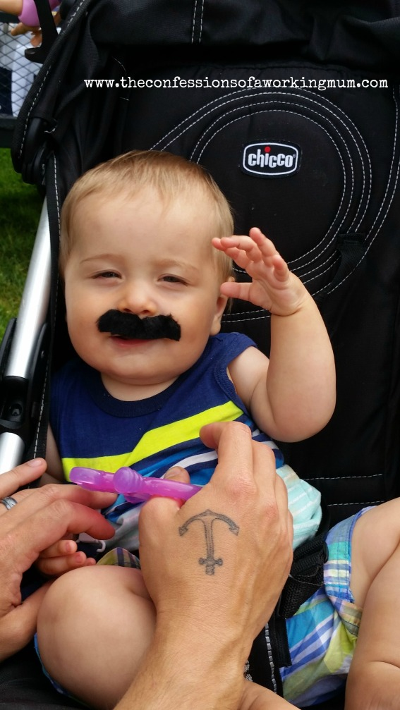 wordless wednesday mustache logan