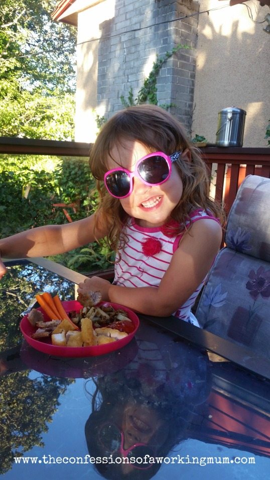 wordless Wednesday Scarlett sunglasses dinner